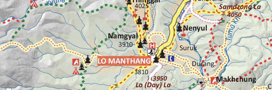 Upper-Mustang-Trek-Map