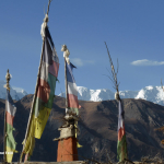 Prayer Flag And Dhaulagiri